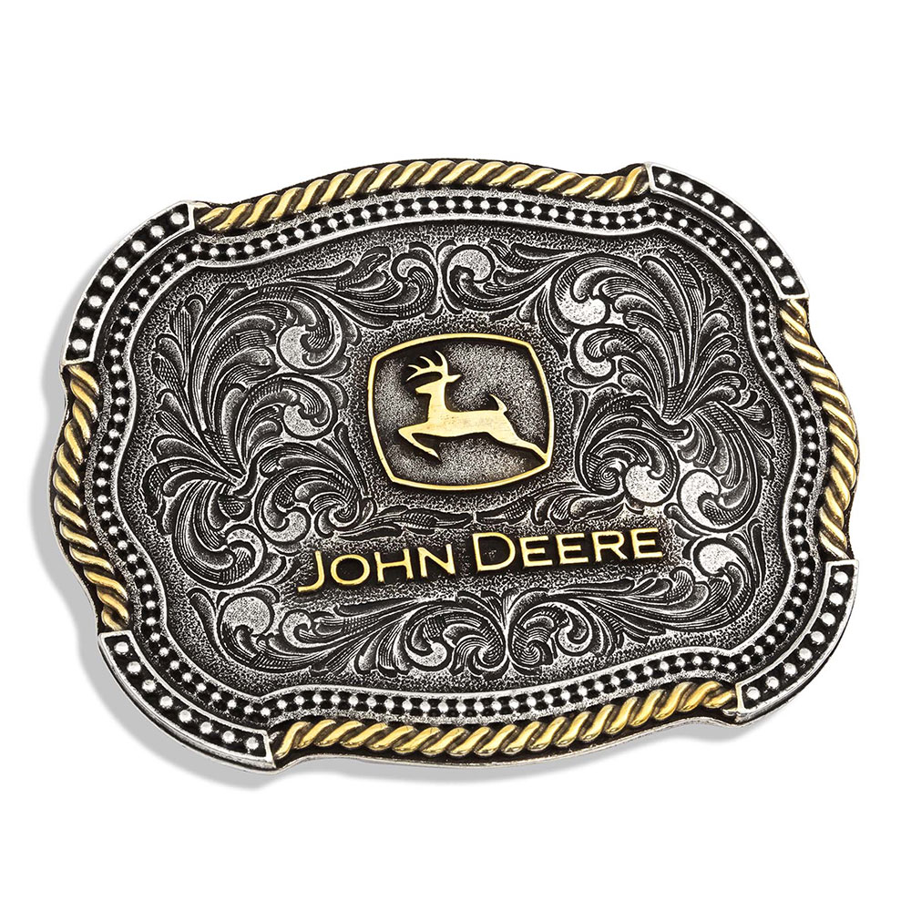 John Deere Scalloped Duo Attitude Buckle