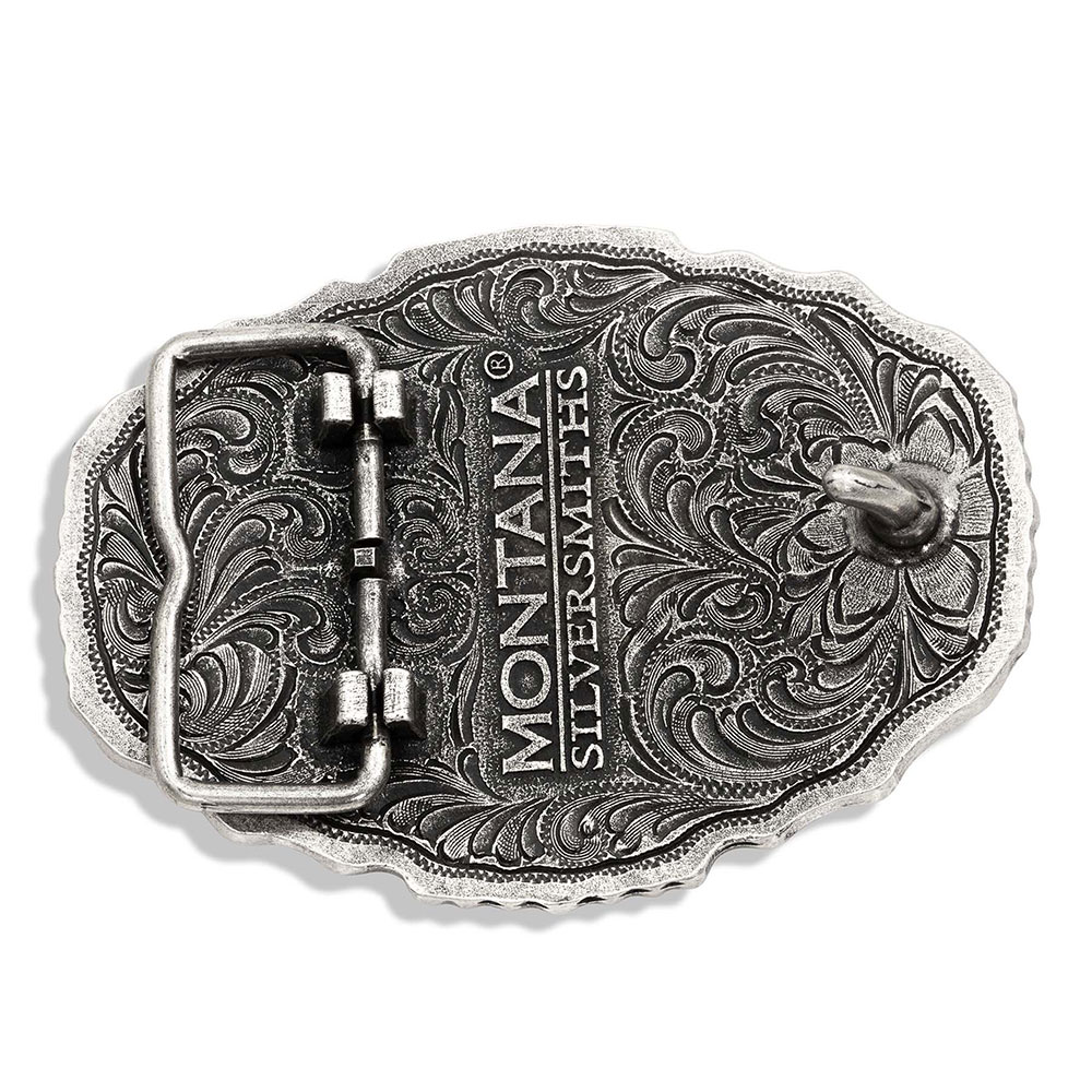 Tri-Color Steer Skull Attitude Buckle