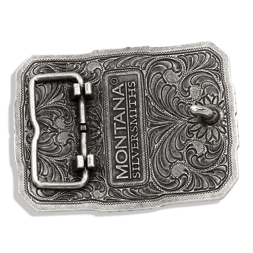 Wrapped Two Tone Longhorn Attitude Buckle