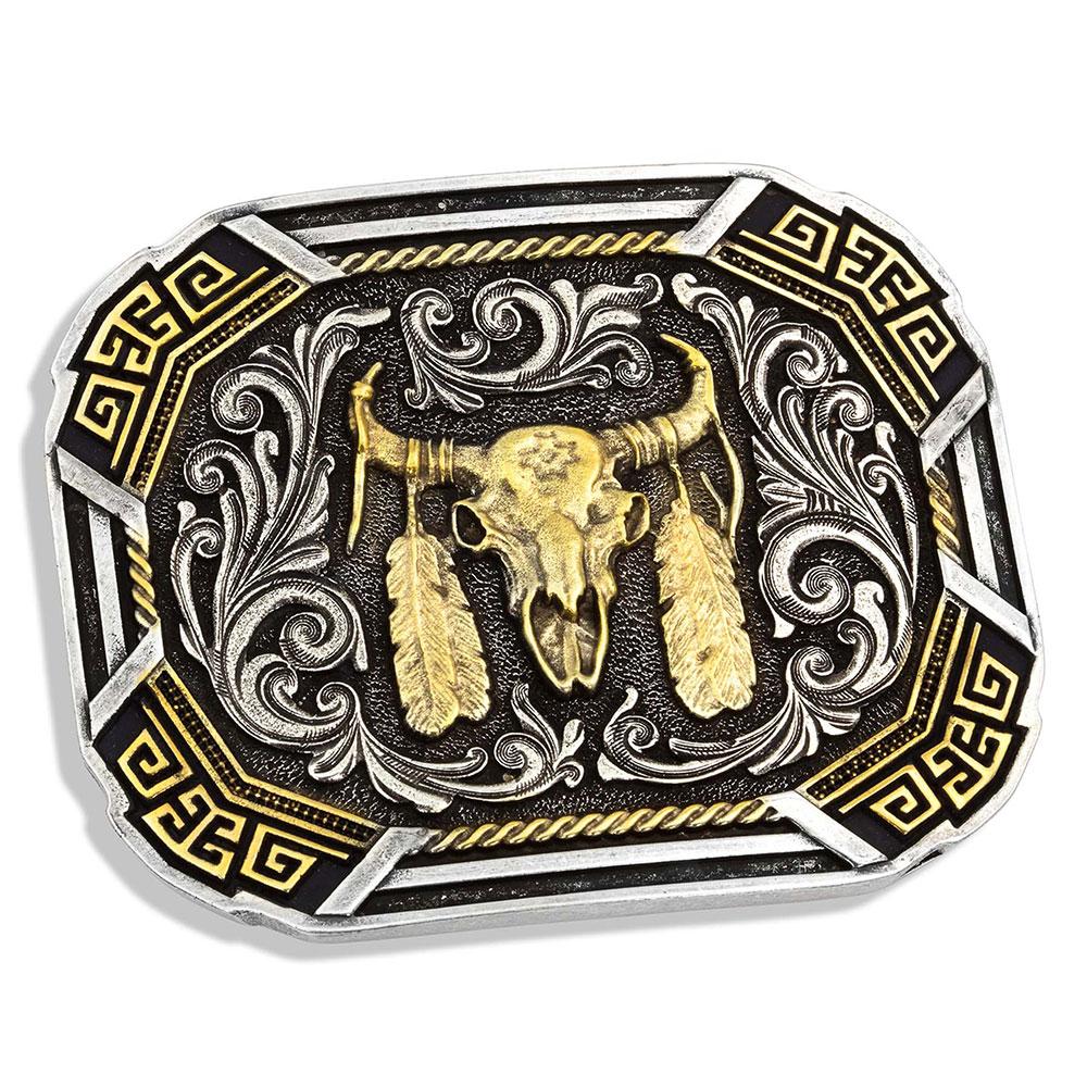 Southwestern Flair Buffalo Skull Attitude Buckle