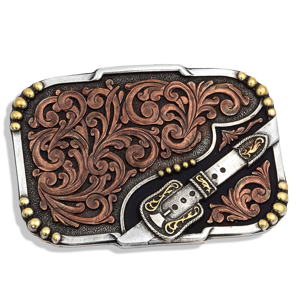 Tri-Color Buckle Up Attitude Buckle