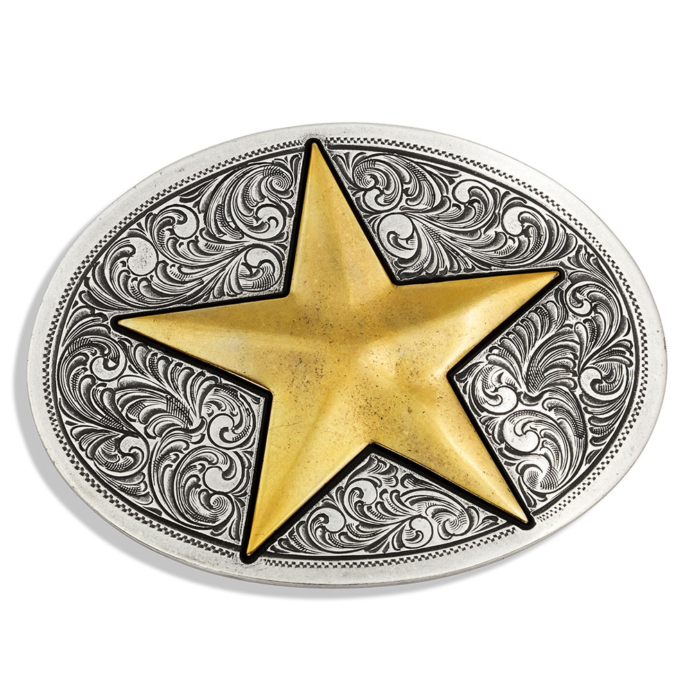 Give A Gold Star Attitude Belt Buckle