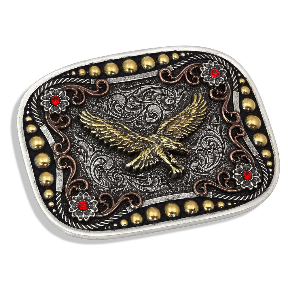 Tri-Color Soaring Eagle Attitude Buckle