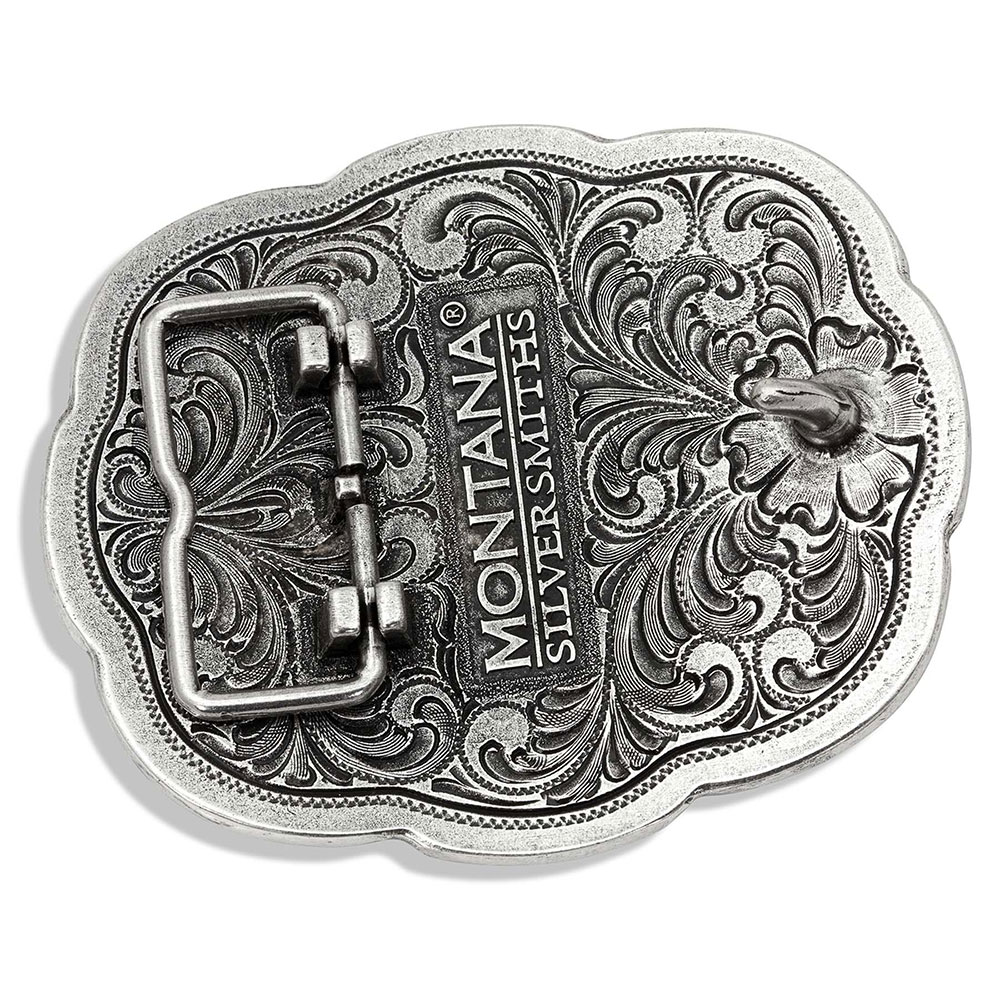 Scalloped Lace Praying Cowboy Attitude Buckle