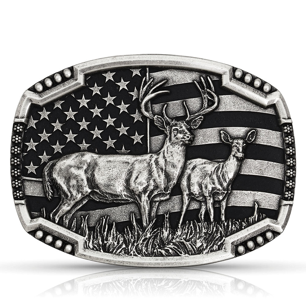 Matched Pair Deer Buckle