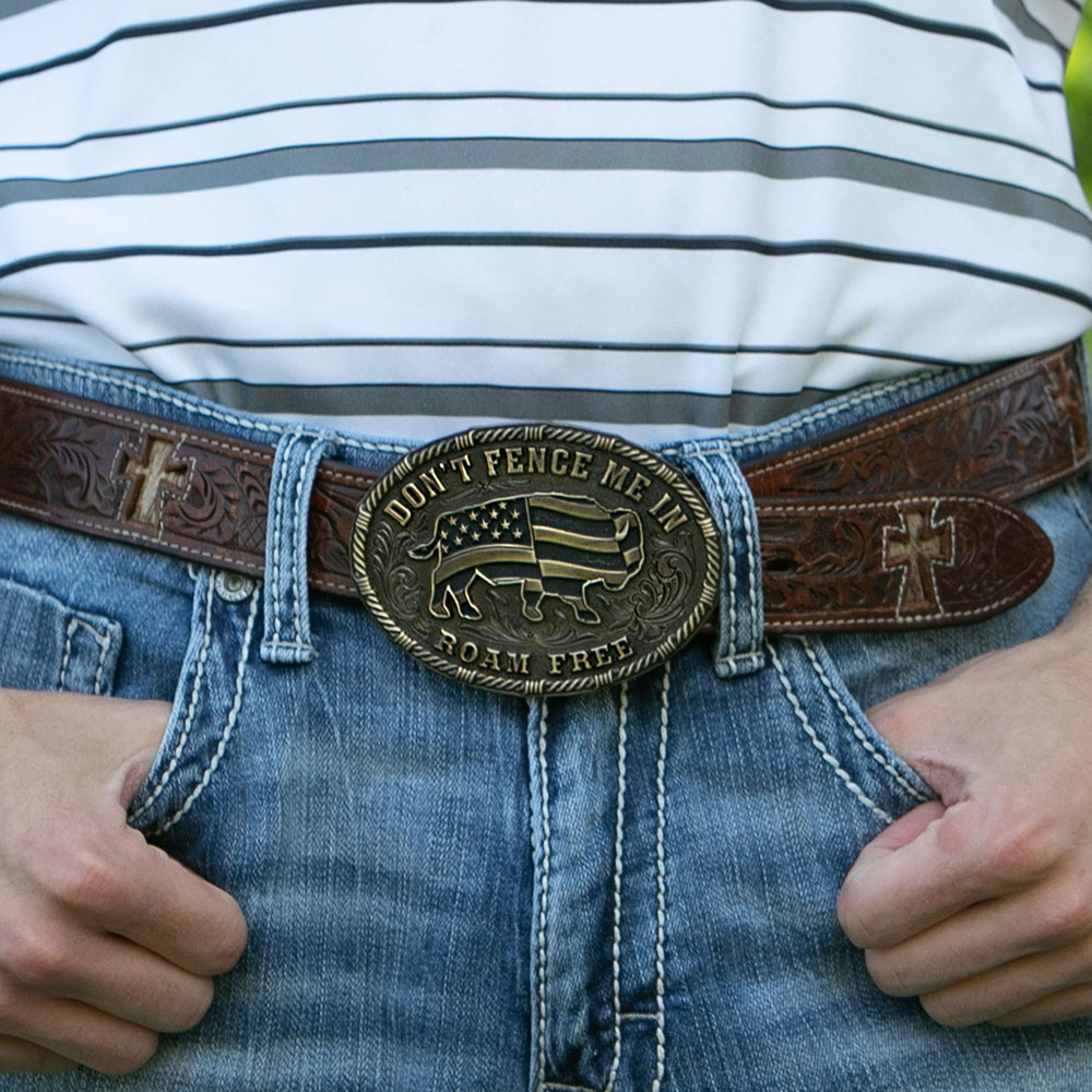 Heritage Don't Fence Me In Buckle