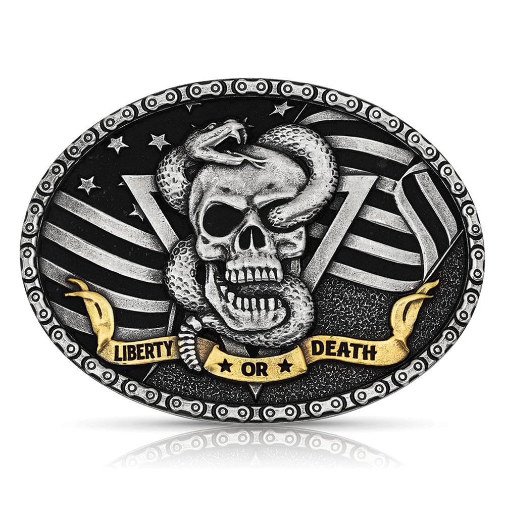Liberty or Death Skull Buckle