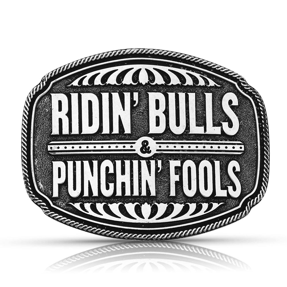 Dale Brisby Punchin' Fools Attitude Buckle