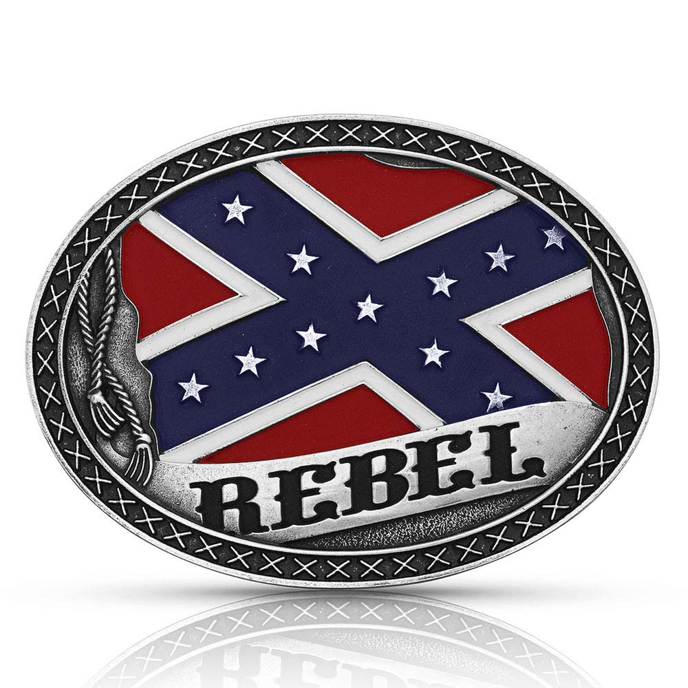 Southern Rebel Flag Attitude Buckle