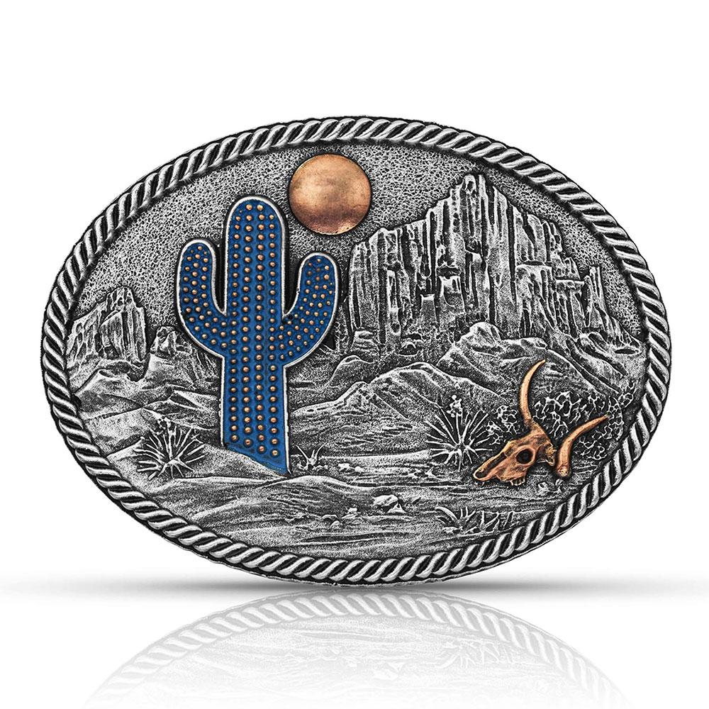 Desert Moon Cactus Attitude Buckle