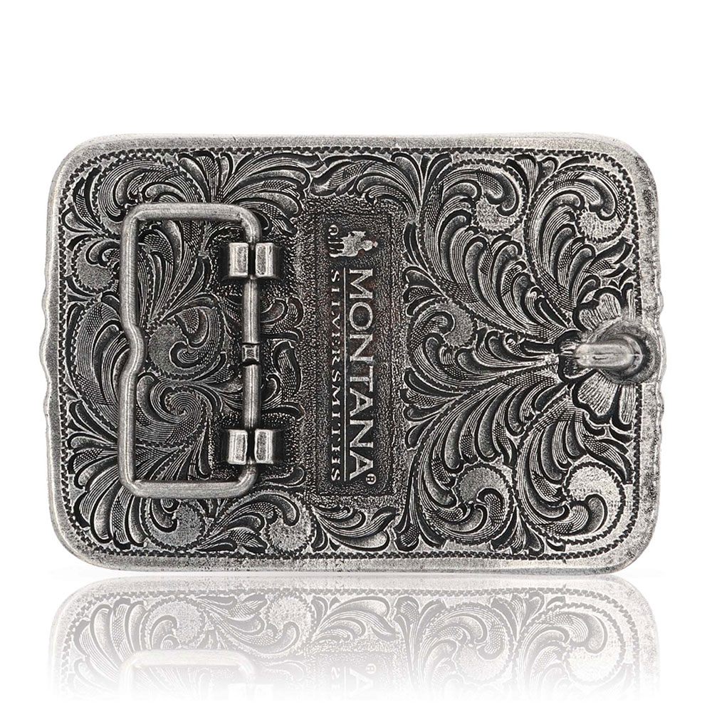 Antiqued Longhorn Attitude Buckle