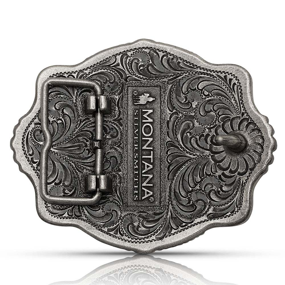 Two Tone Part of the Whole Team Roper Attitude Buckle