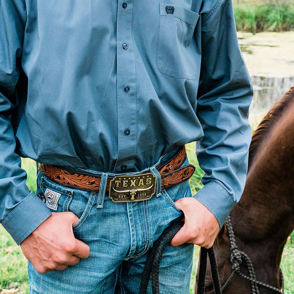 Classic Texas Longhorn Attitude Buckle