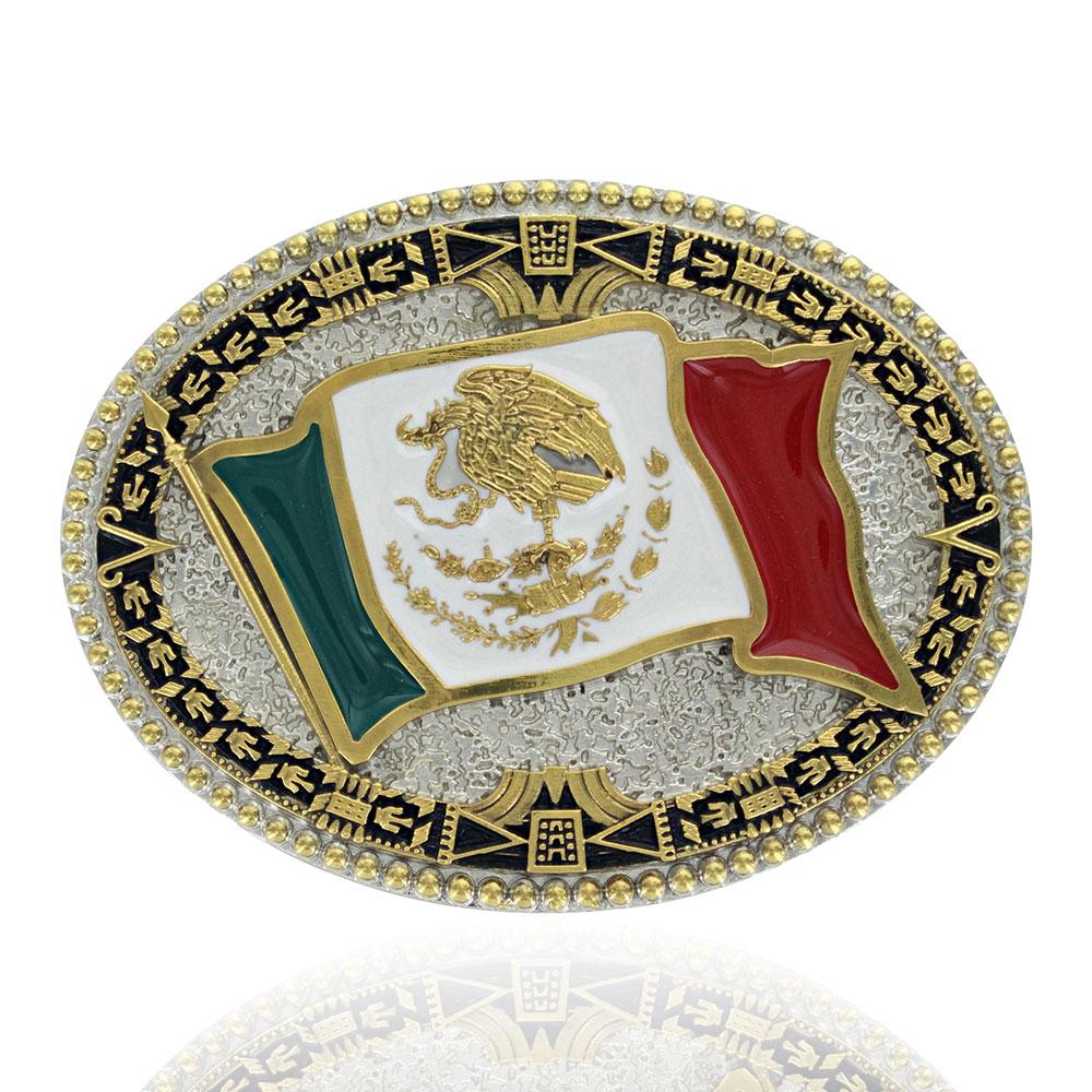 Grand Mexican Flag Attitude Buckle