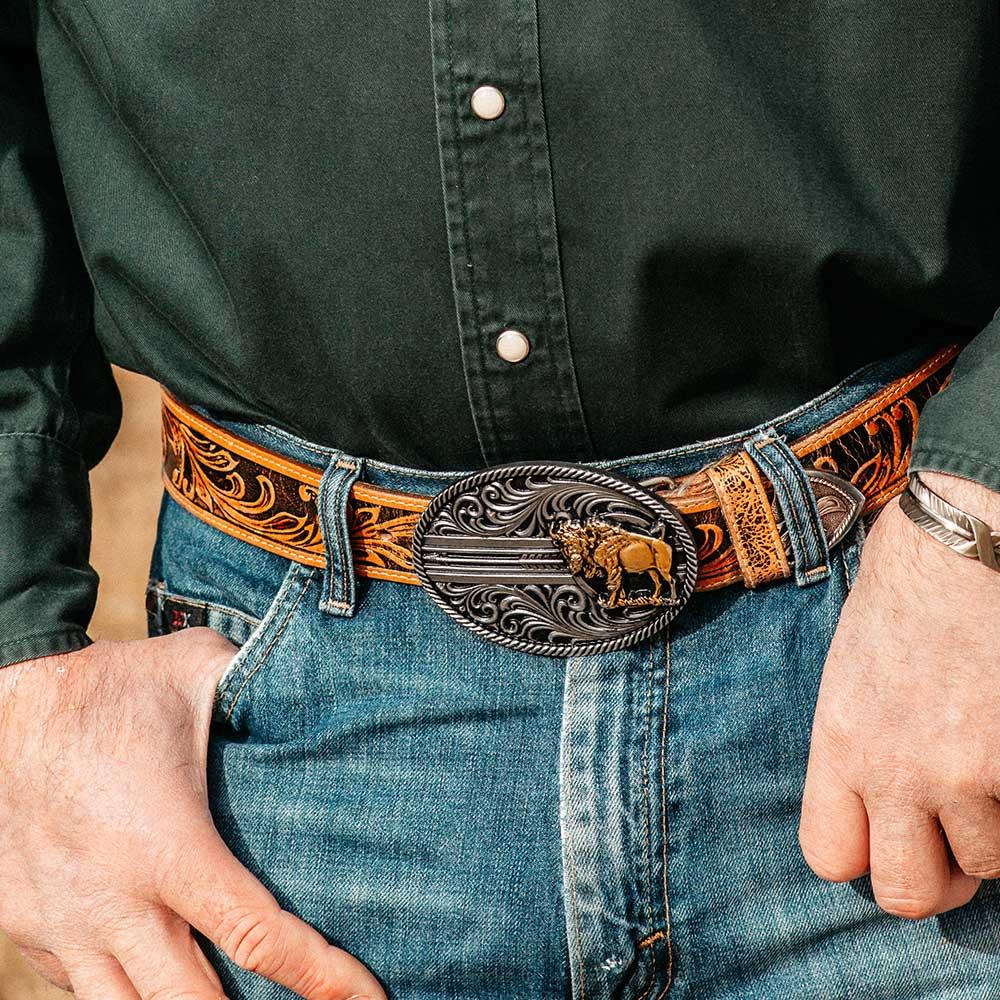 Buffalo Line of Sight Attitude Belt Buckle