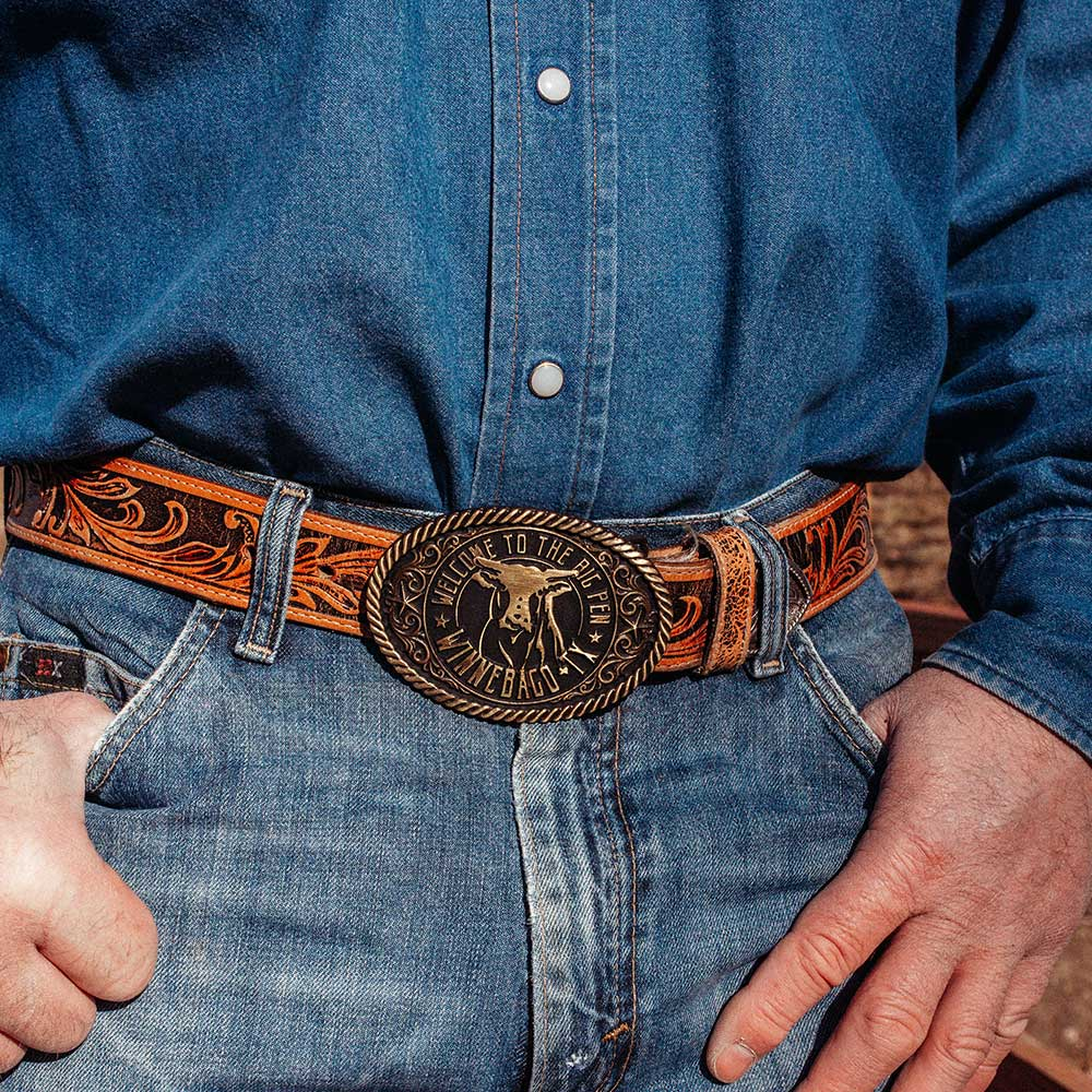 Big Cattle Pen Attitude Belt Buckle