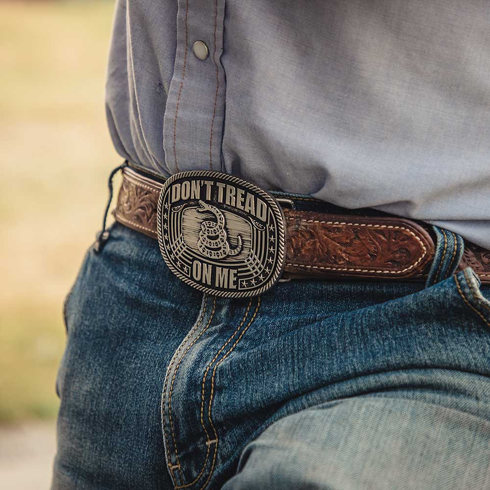 Don't Tread On Me Roped Attitude Buckle