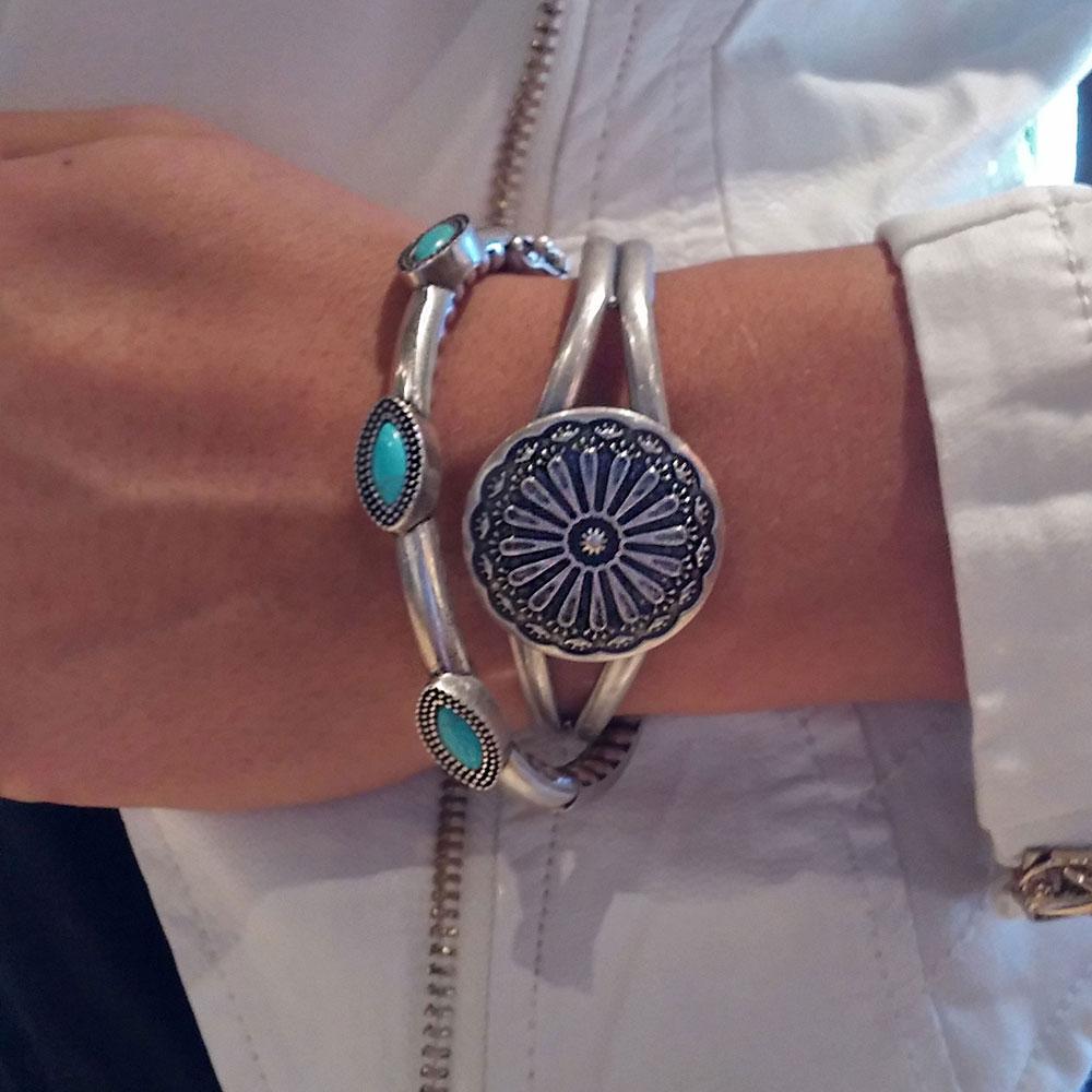 Three Marquise Hinged Bangle Attitude Jewelry