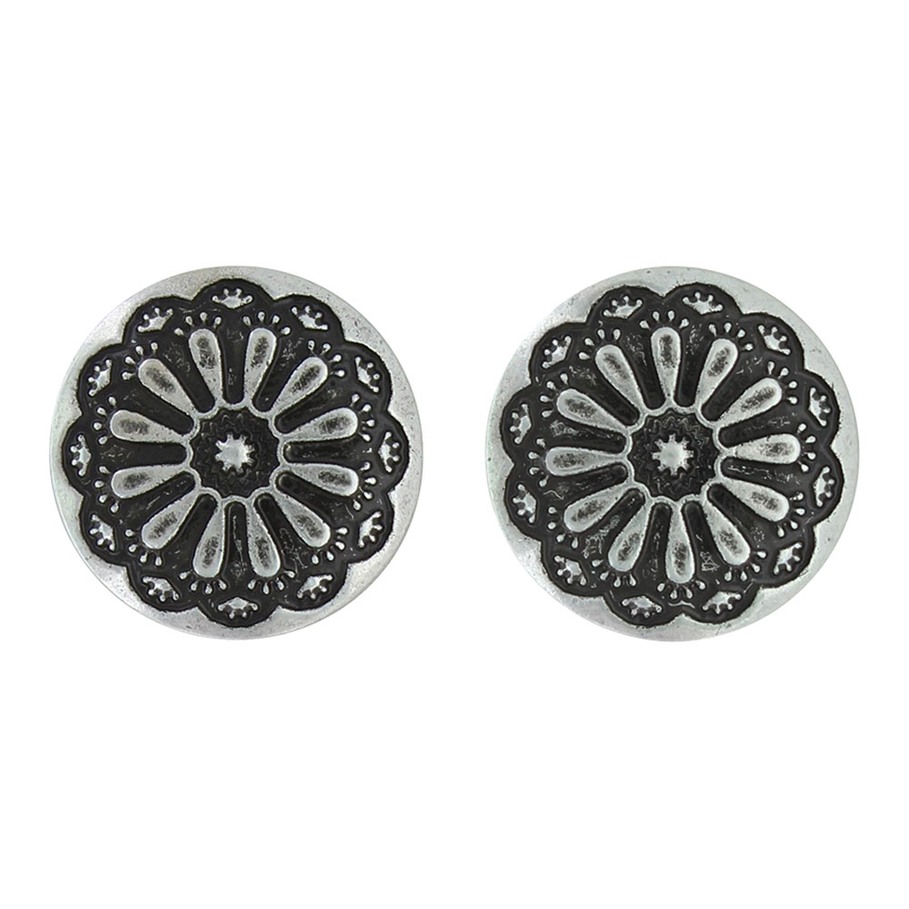 Antiqued Sunflower Post Earrings Attitude Jewelry