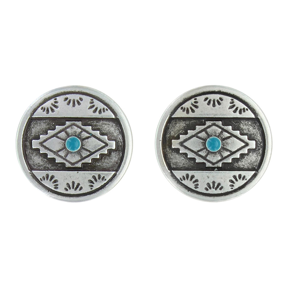 Antiques Aztec Eyes Post Earrings Attitude Jewelry