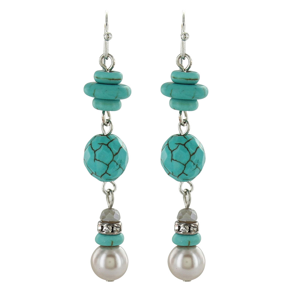 Pearled Sky Triple Drop Earrings Attitude Jewelry