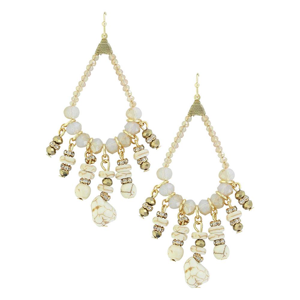 Beach Beads Chandelier Earrings Attitude Jewelry