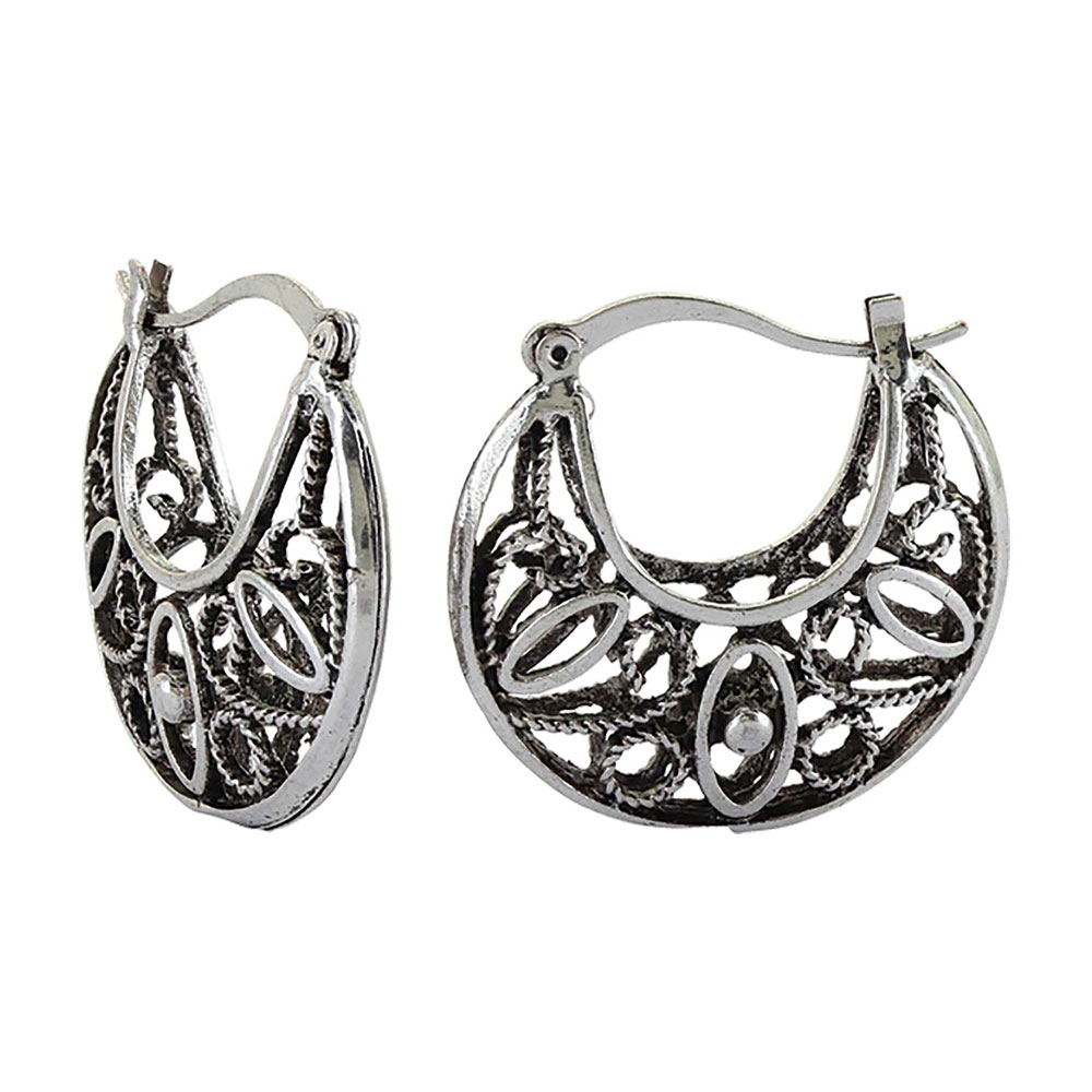 Southwestern Rope Filigree Hoop Earrings Attitude Jewelry