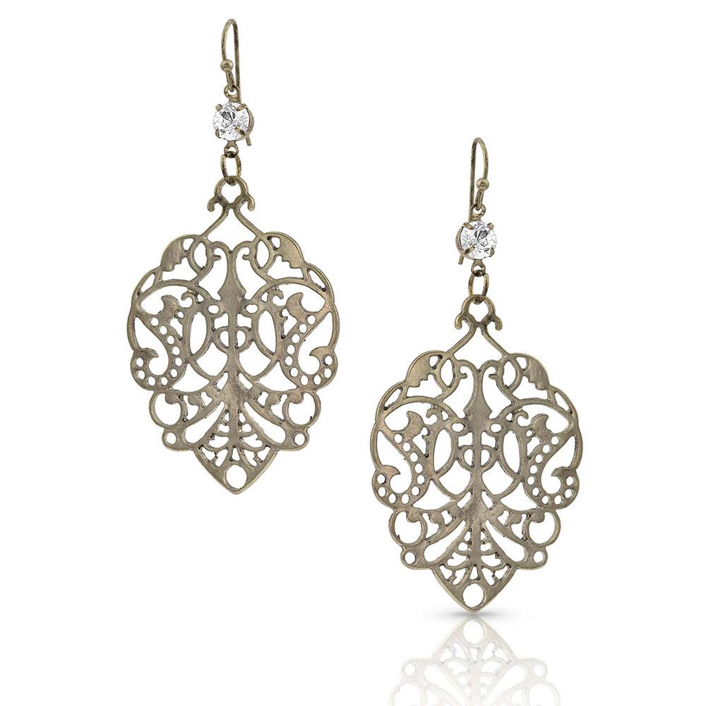 Lace Leaf Earrings Attitude Jewelry