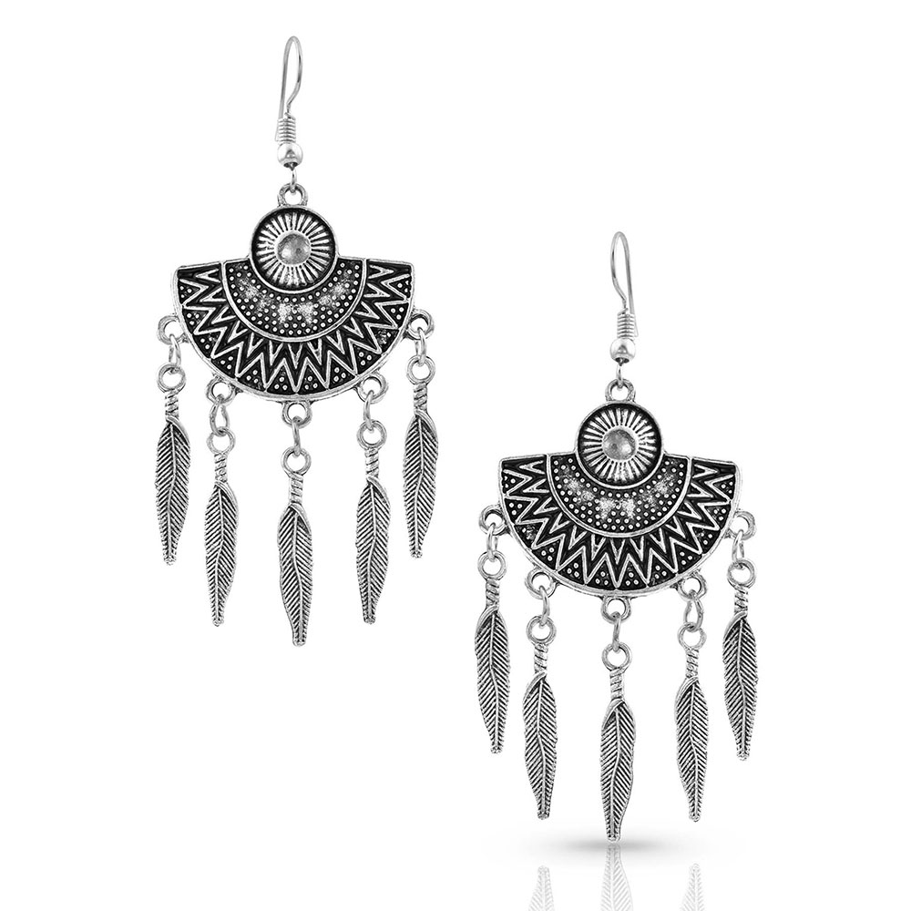 Half the Reflection Feather Earrings Attitude Jewelry