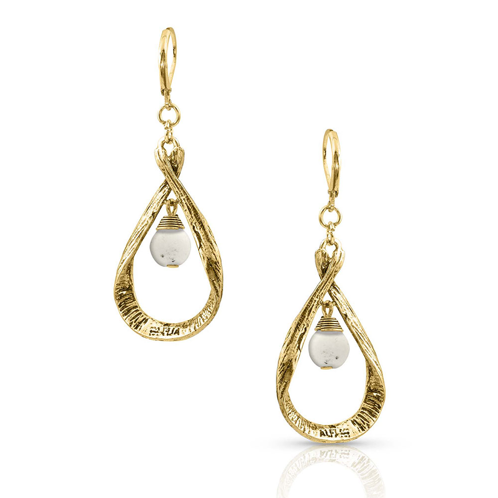 All Twisted Up Drop Earrings Attitude Jewelry