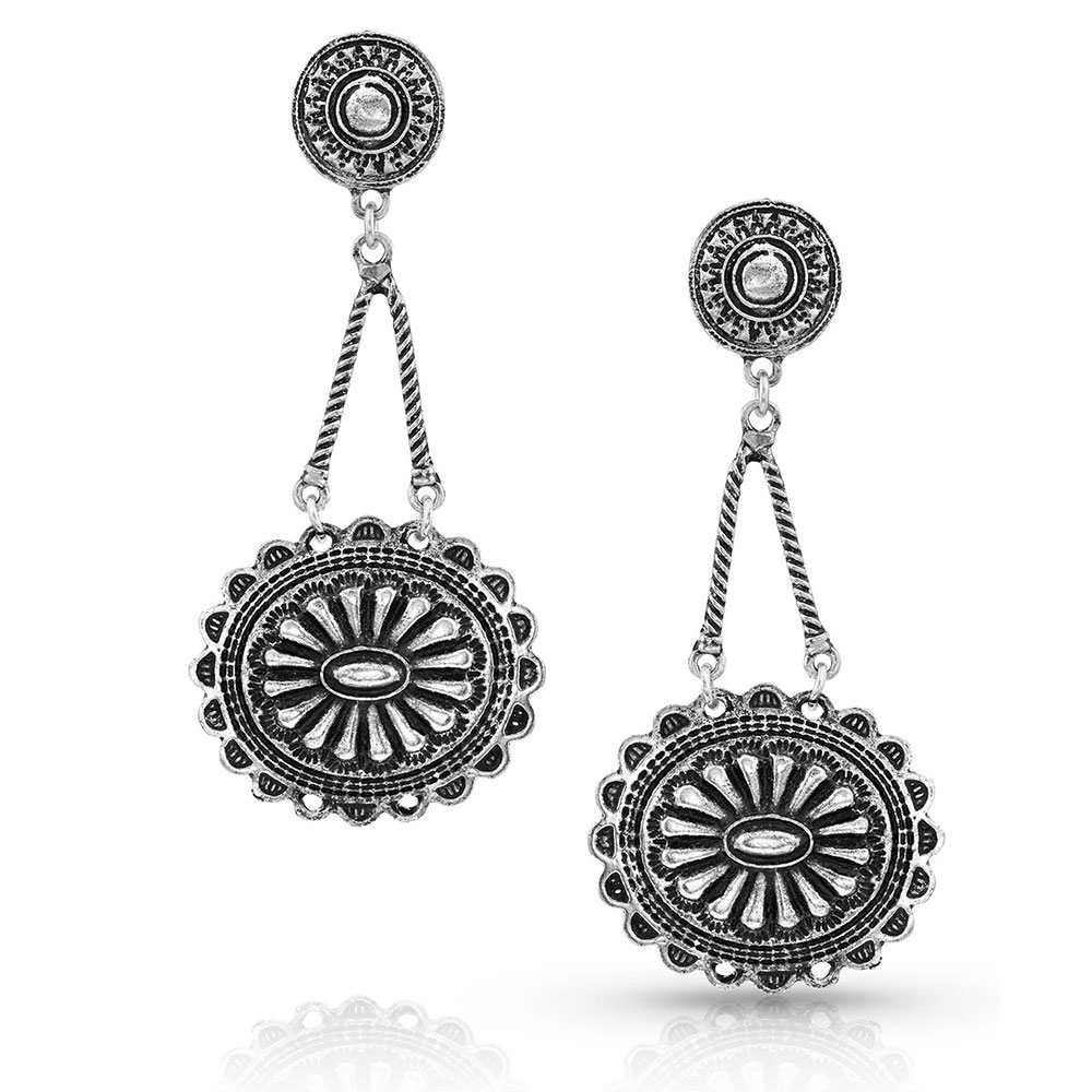 Sunburst Concho Drop Earrings Attitude Jewelry