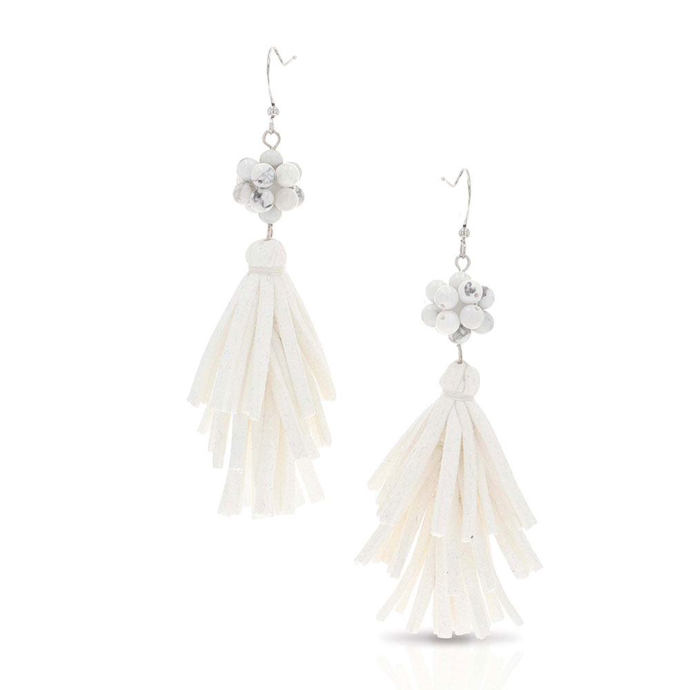 Snowy Fringe Earrings Attitude Jewelry