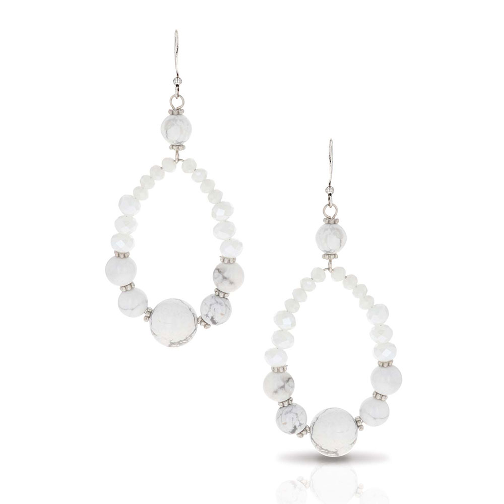 Snowy Teardrop Earrings Attitude Jewelry