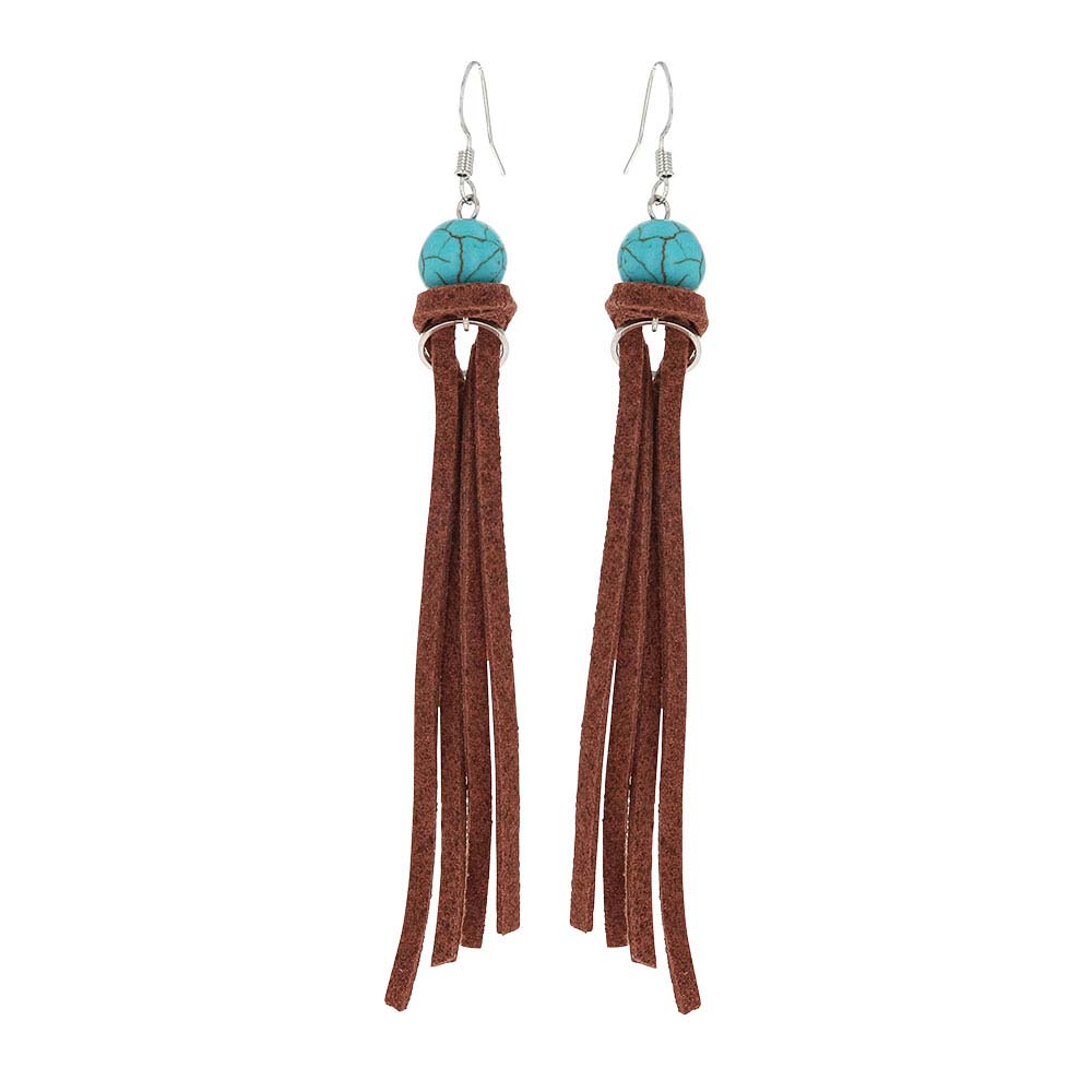 Tasseled Turquoise Attitude Earrings