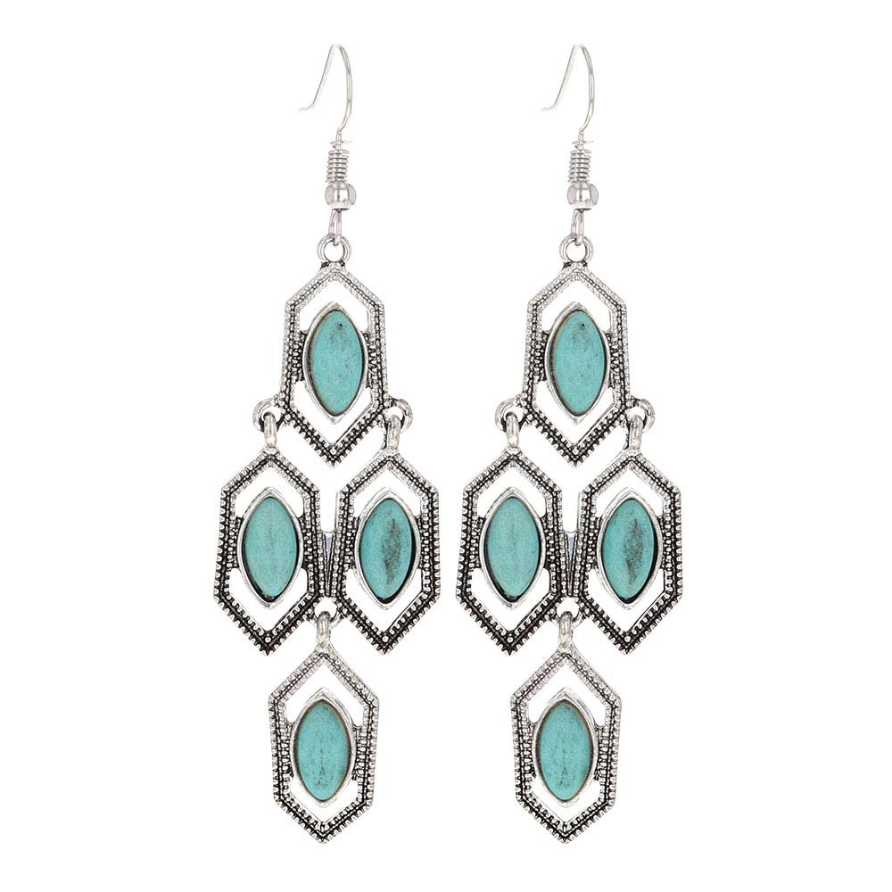 Mosaic Turquoise Attitude Earrings