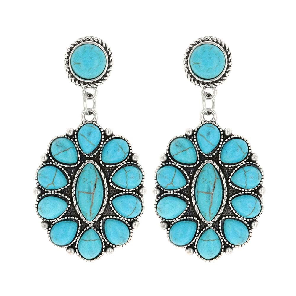 Double Concho Turquoise Attitude Earrings