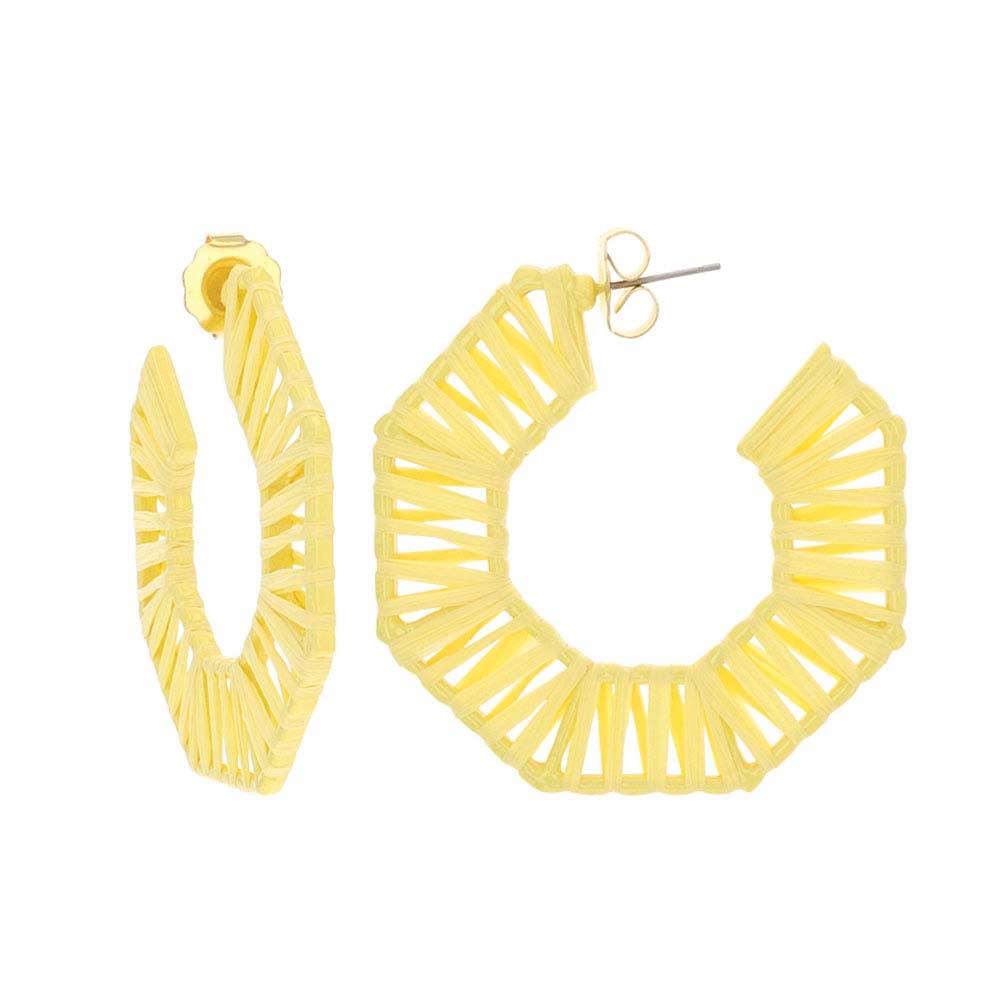 Seven Suns Raffia Attitude Earrings
