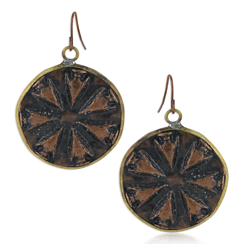 Simmering Warmth Attitude Earrings