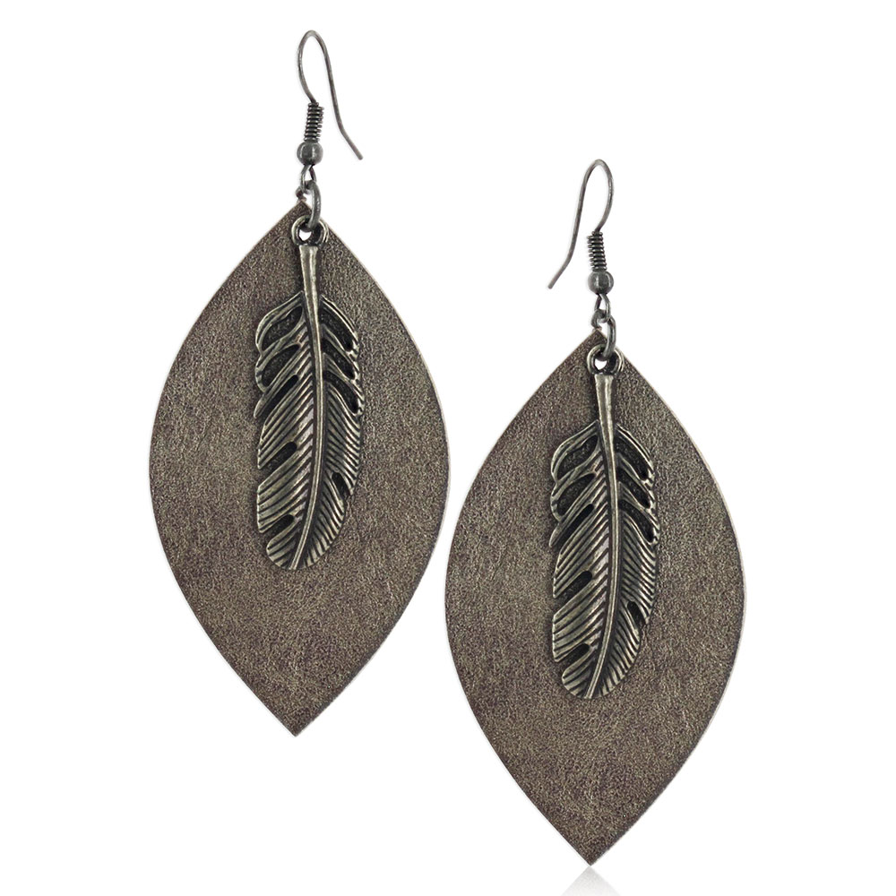 Natured Feather Soft Textured Attitude Earrings