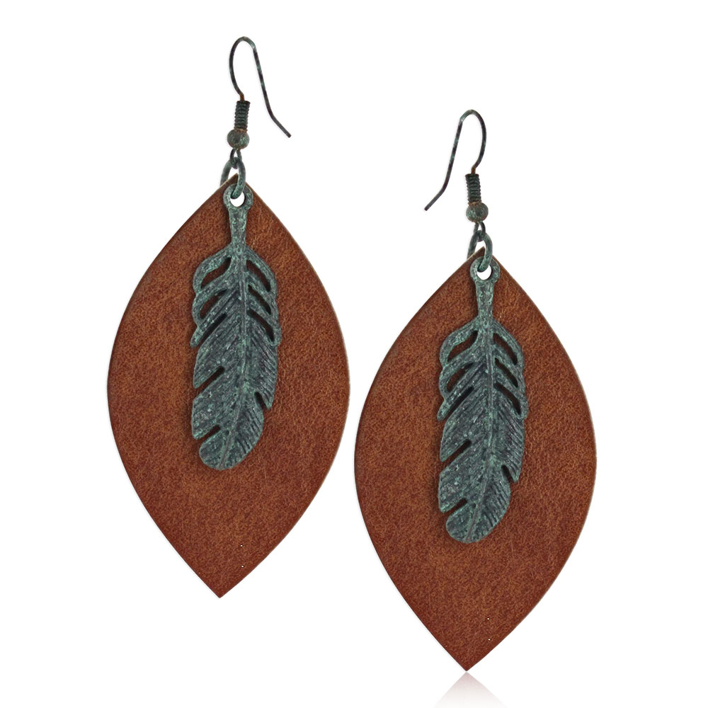 Natured Feather Soft Leather Attitude Earring