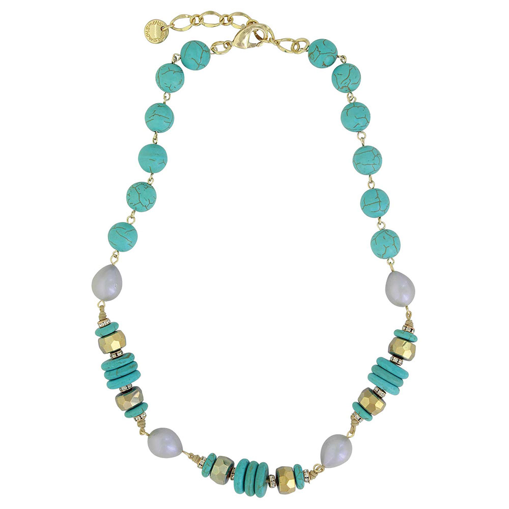 Summer Skies Beaded Necklace Attitude Jewelry