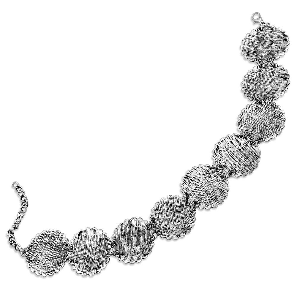 Sunburst Concho Choker Necklace Attitude Jewelry