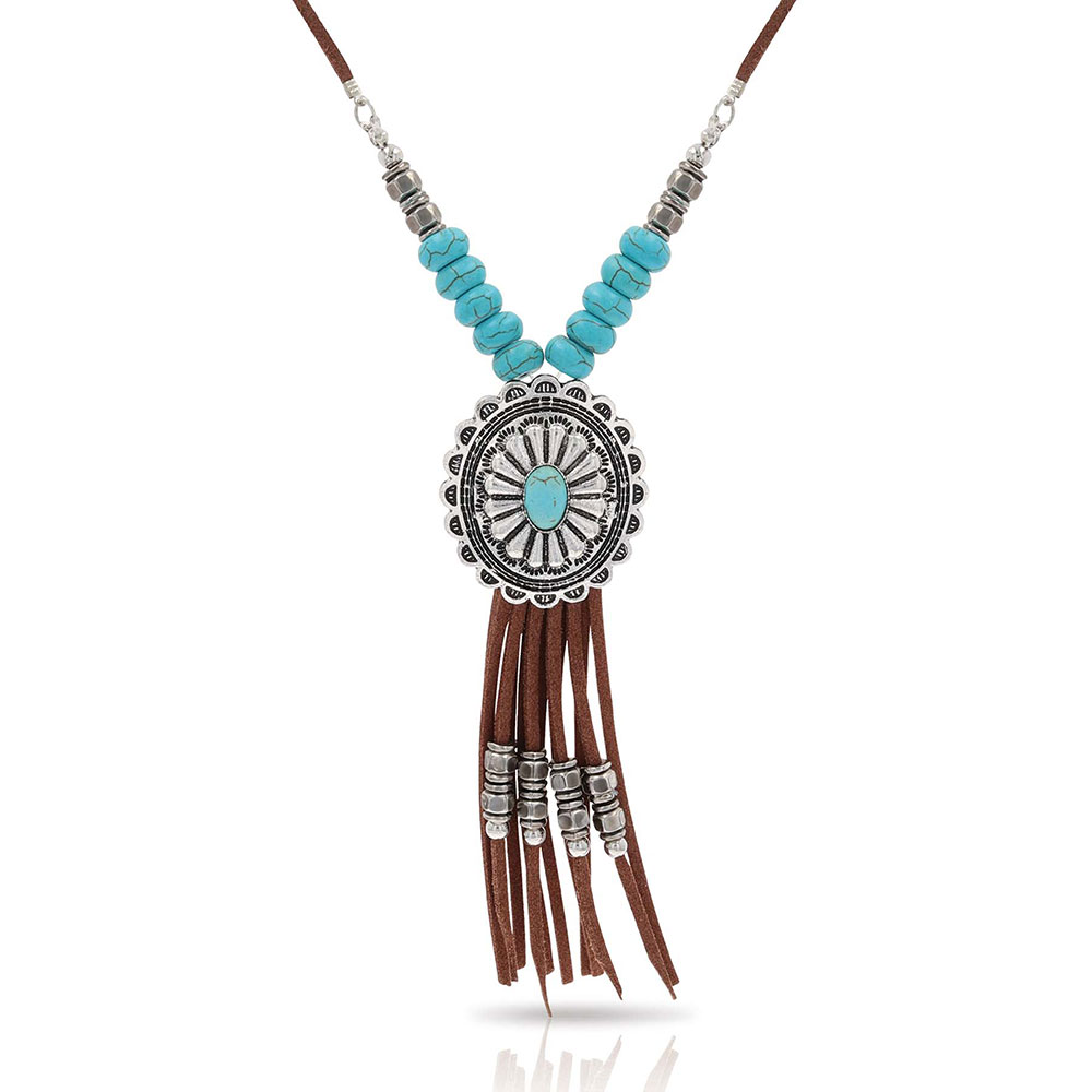 Concho Fringe Necklace Attitude Jewelry