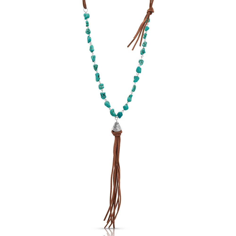 Relaxed Bead and Leather Attitude Necklace