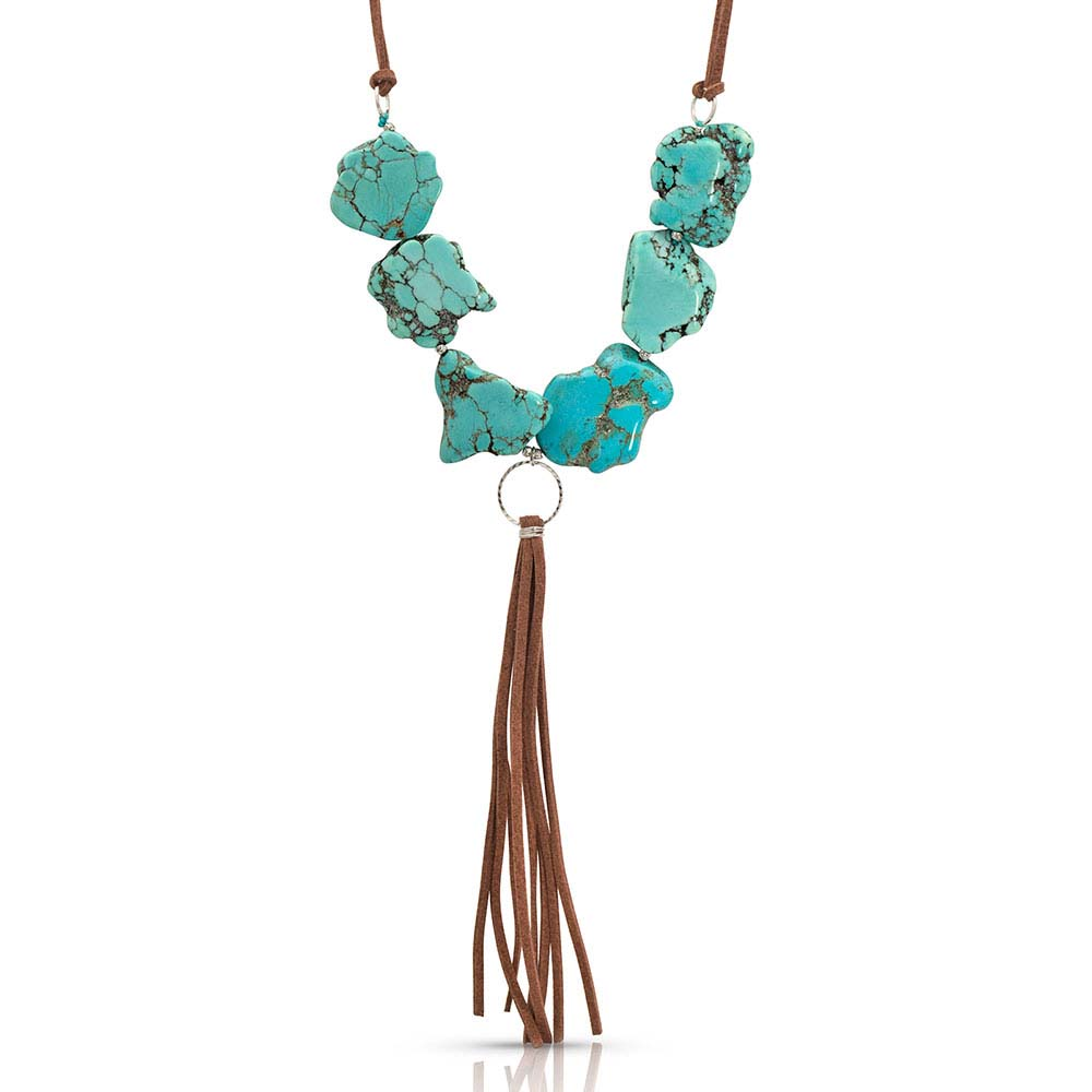 Chunky Beads and Leather Attitude Necklace