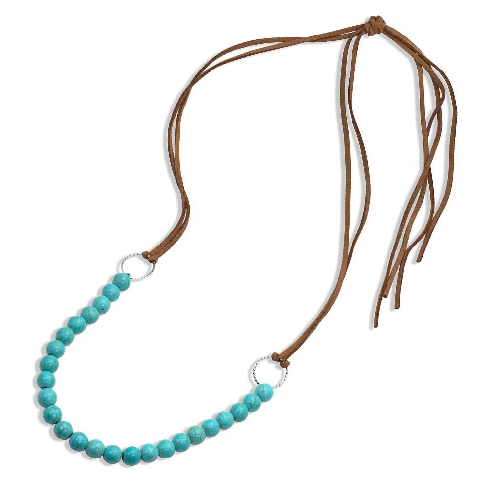 Coming Together Leather & Bead Attitude Necklace
