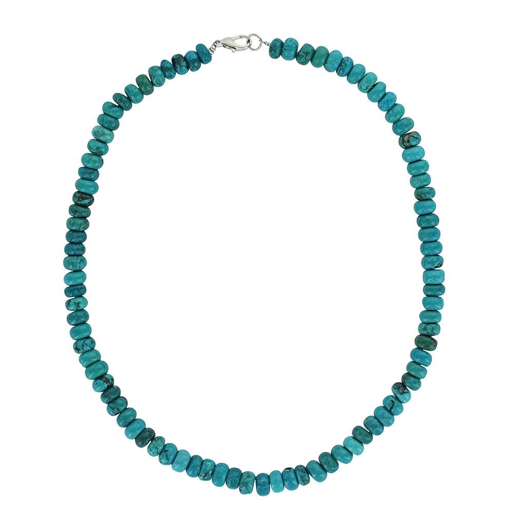 Boho Blue Beaded Strand Attitude Necklace