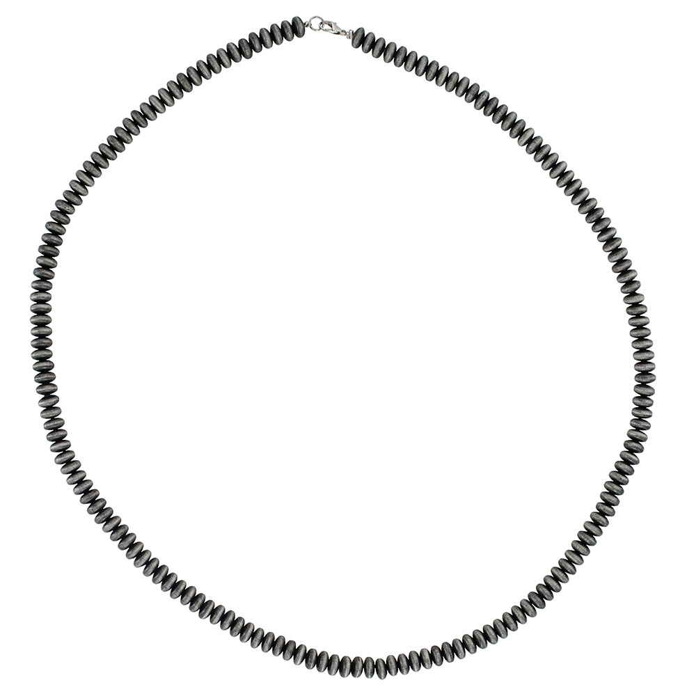 Southwestern Pewter Beaded Strand Attitude Necklace
