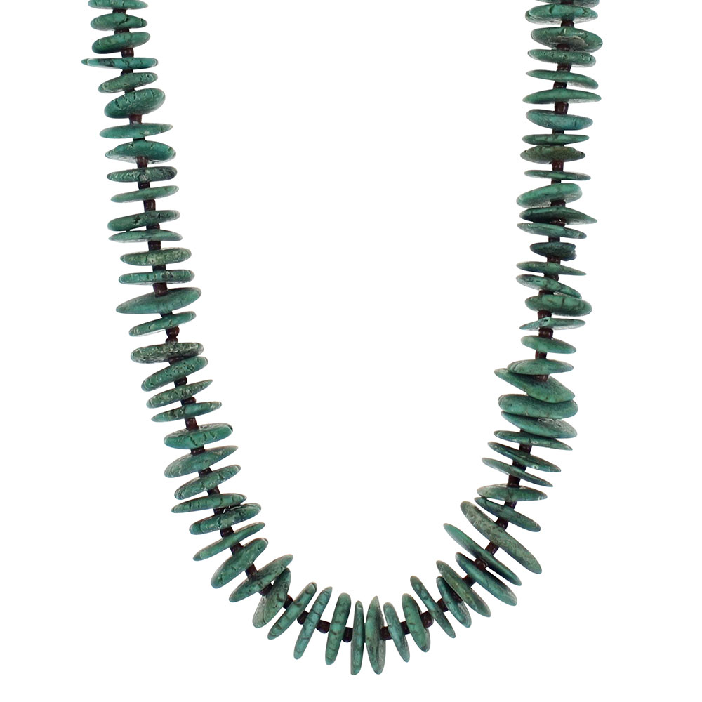 Turquoise Phases Beaded Strand Attitude Necklace