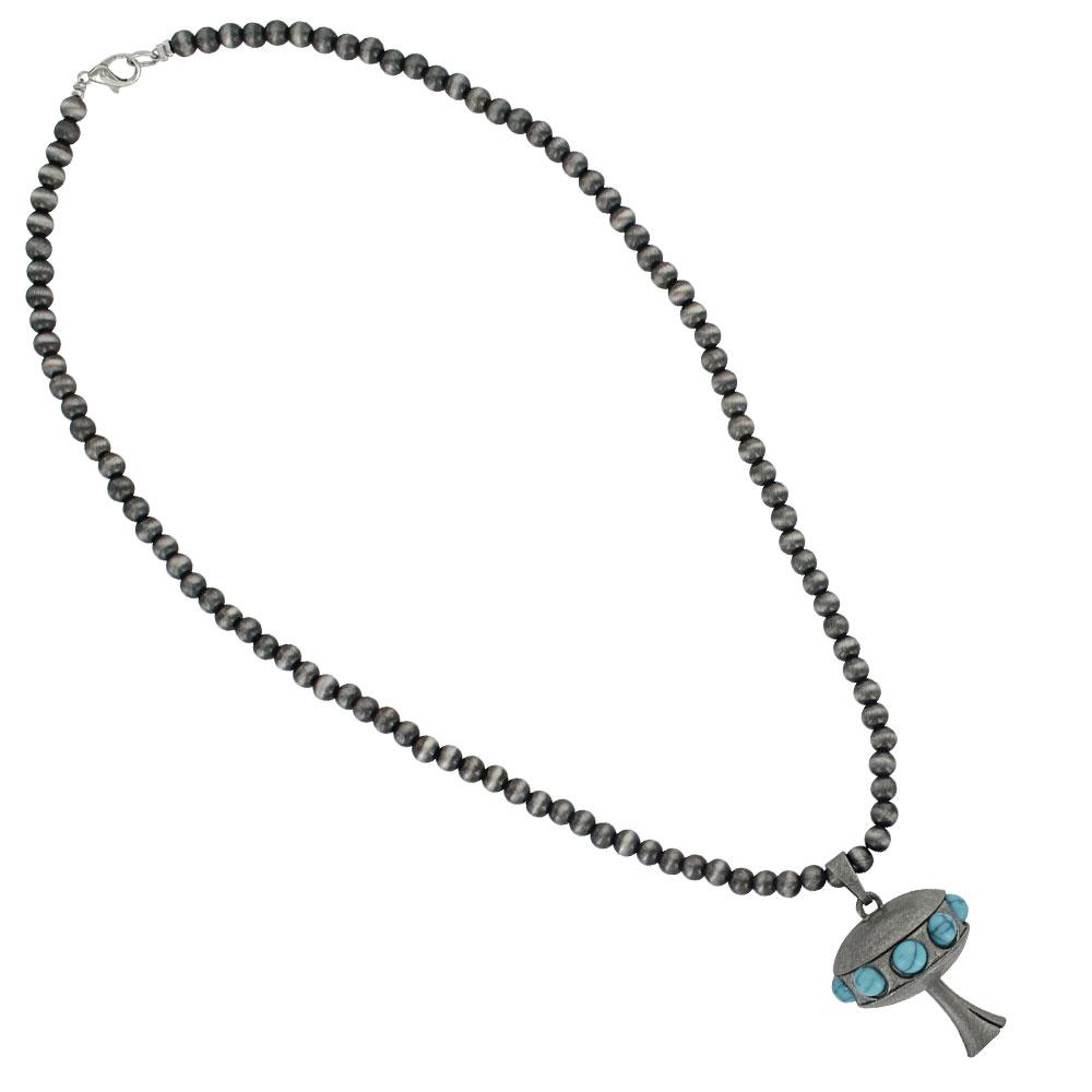 Bugle Dangle Beaded Attitude Necklace